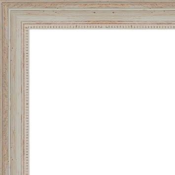 Amazon.com - 24x30 - 24 x 30 Nautical White Washed Solid Wood Frame ...