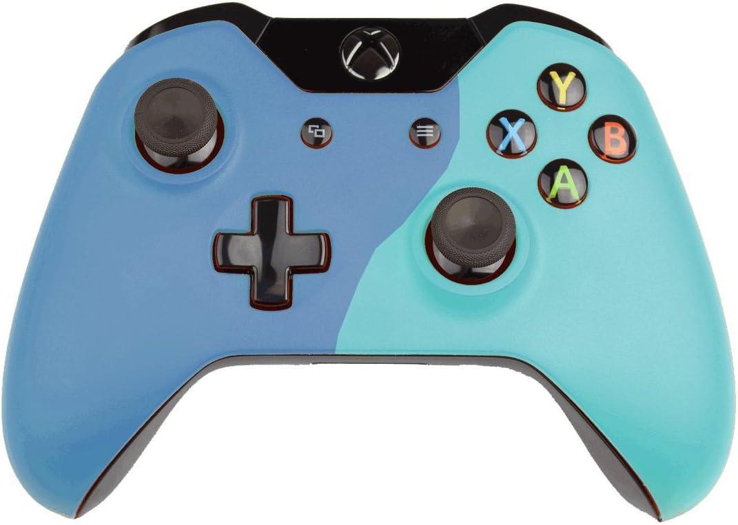 Custom Xbox One Controller Wireless Glossy Half-Light Blue-And ...