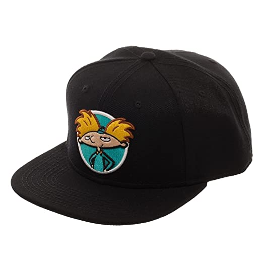 c77bff1fa72 Nickelodeon Rocko s Modern Life Arnold Rugrats Adjustable Baseball Cap  (Black)