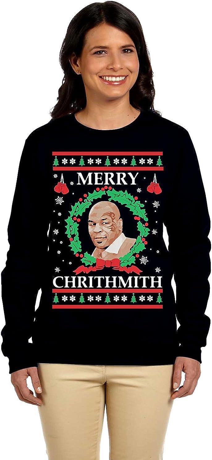 12.99 Prime Tees Women's Merry Chrithmith Plus Size Ugly Christmas Sweater Sweatshirt