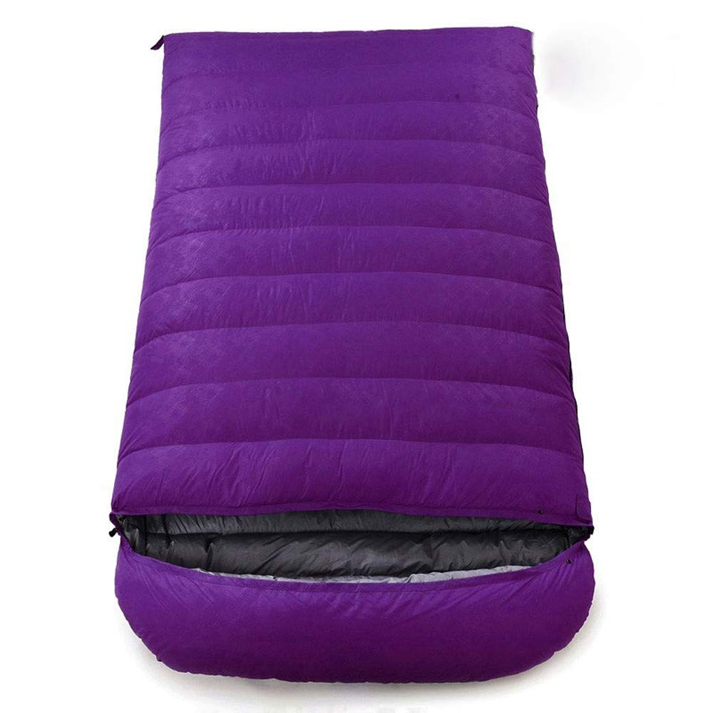 Purple 1Kg HGJKSH Double Sleeping Bag  Down Cotton, Lightweight, Waterproof for Hiking  Comfortable Warm Sleeping Envelope Sleeping Bag