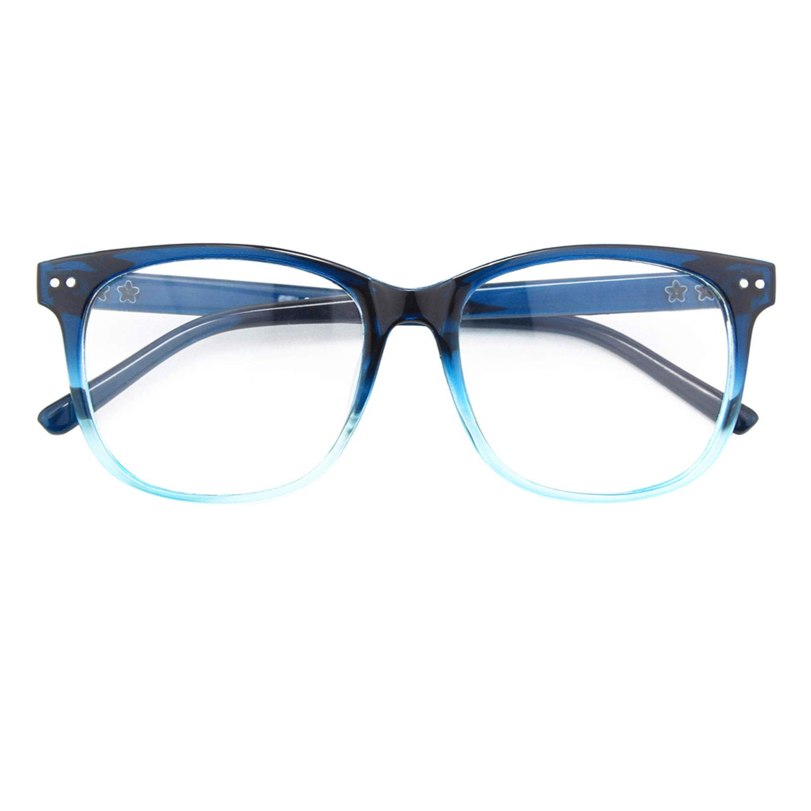 GQUEEN Fake Glasses for Women Men Non Prescription Glasses Clear Lens Glasses Eyeglasses, 201581