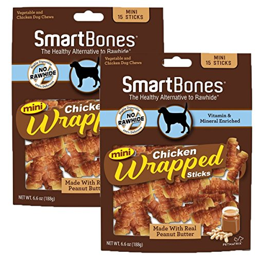 SmartBones Chicken Wrapped Sticks for Dogs, Mini, 30-Count