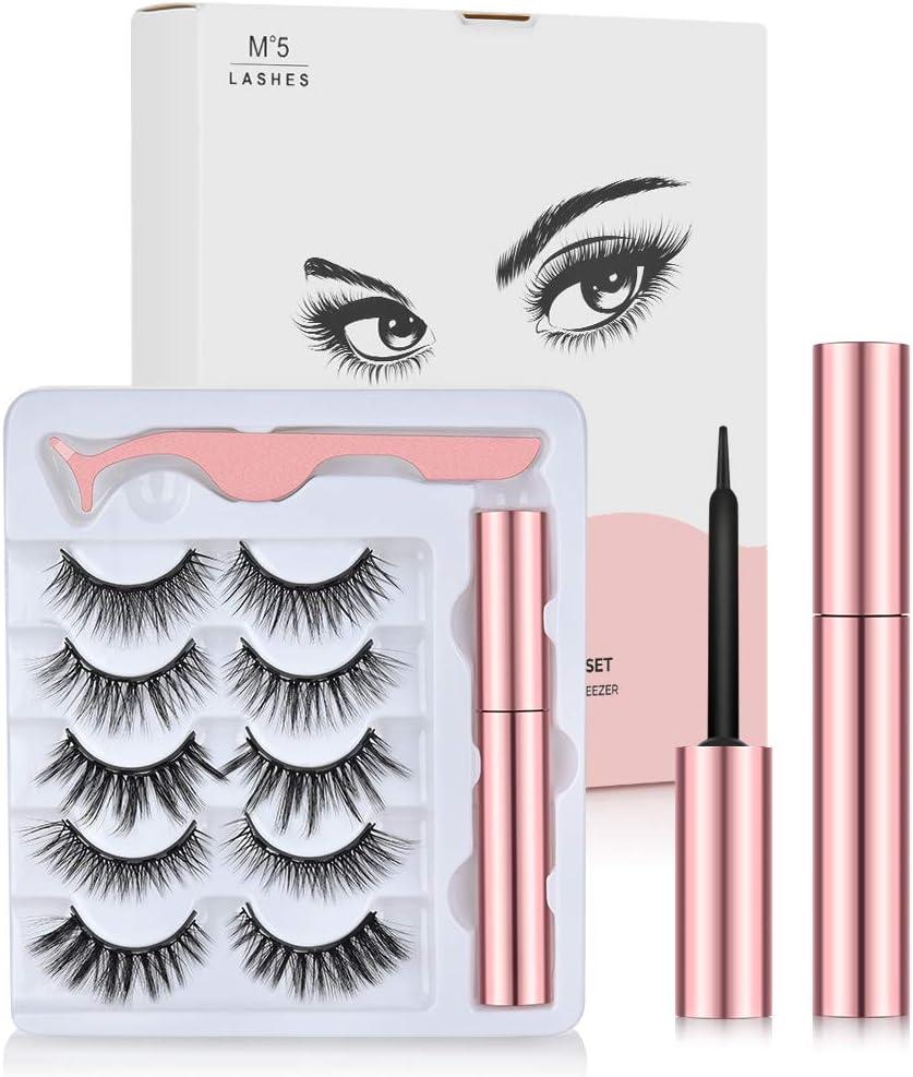 Magnetic Eyeliner and Magnetic Eyelash Kit (5 Pairs) WAS £9.98 NOW £5.99 w/code 4AHZJ222 @ Amazon