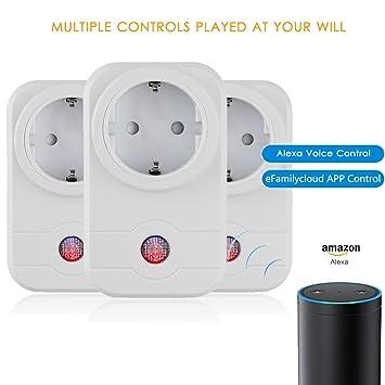Smart Steckdose Remote APP Steuerung WiFi Steckdose Stimme Steuern ...