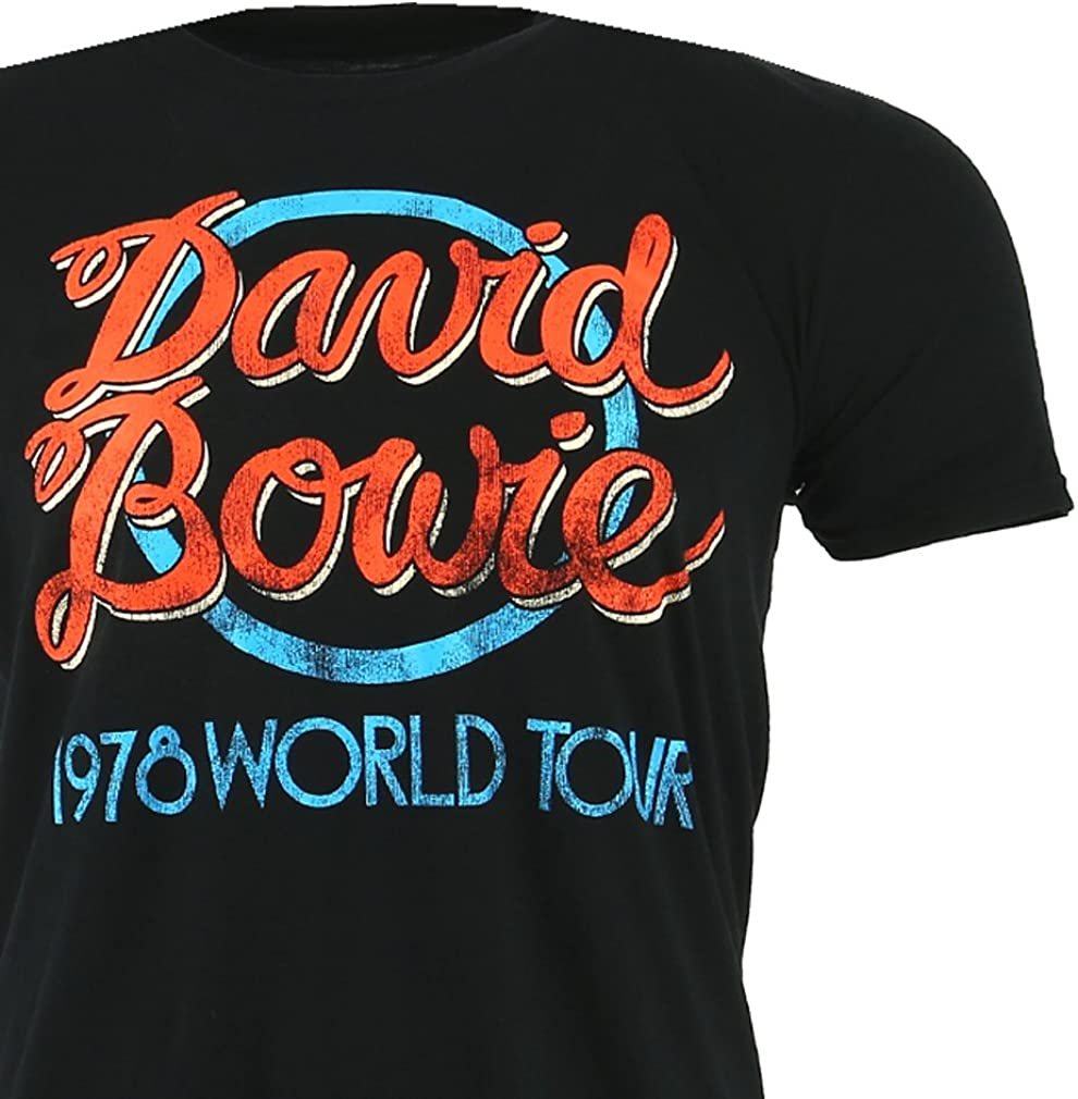 DAVID BOWIE 1978 World Tour Mens T Shirt Unisex Official Licensed Band Merch