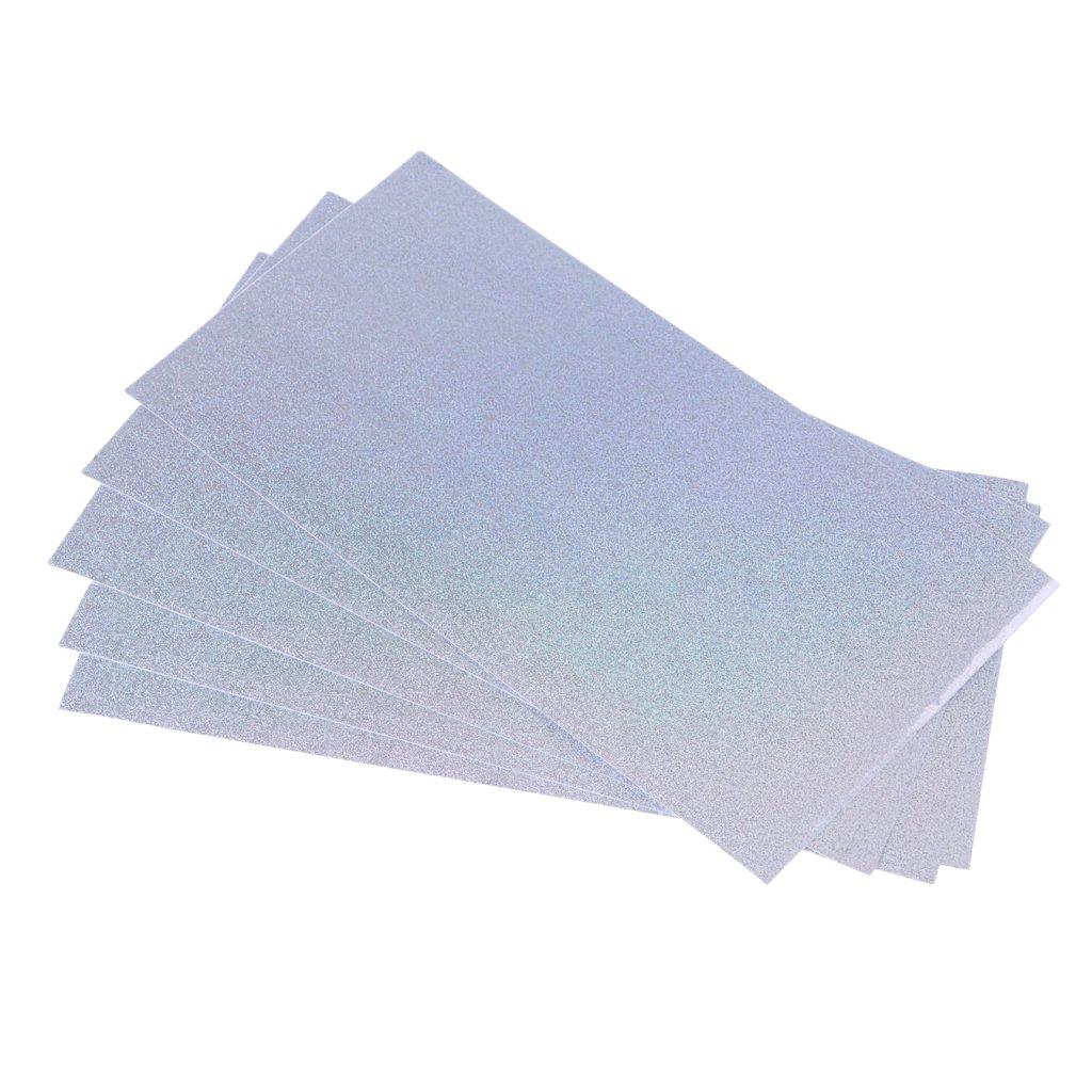 Va 10x20cm CUTICATE 5 Unids//Set Durable Color Brillante Pel/ícula Hologr/áfica Cintas para Se/ñuelos De Pesca Reflectantes Escala De Flash Pegatinas De Piel