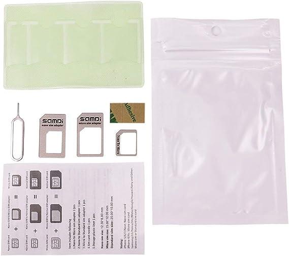 Tarjeta SIM Adaptador Kit especialmente diseñado para iphone 7 6 5 4 usuario, mientras tanto útil para Samsung Nokia HTC Huawei usuario etc: Amazon.es: Electrónica