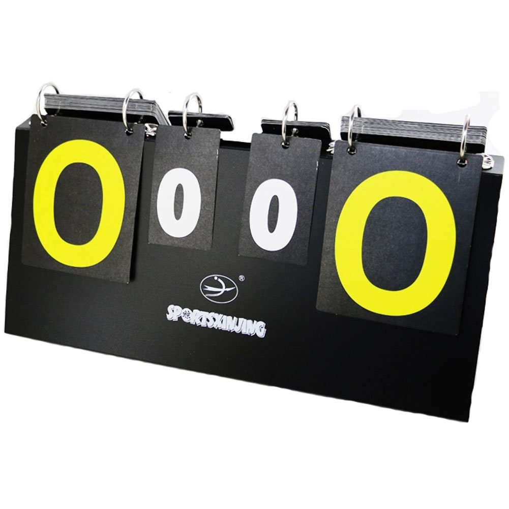Portable Tabletop Multifunctional Scoreboard For Sports Games Black PANDA SUPERSTORE