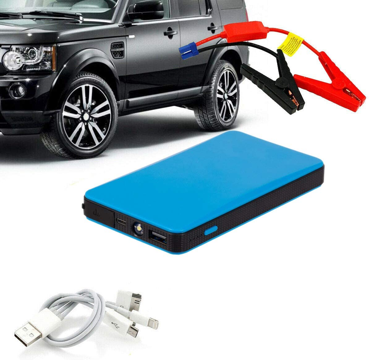 REFURBISHHOUSE 12V Multifonction D/éMarreur de la Voiture Chargeur de la Batterie la Banque de la Puissance Booster Bleu