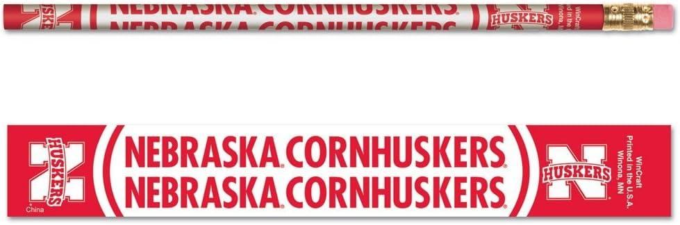 WinCraft NCAA Nebraska Cornhuskers Pencil (6 Pack), Team Color, One Size
