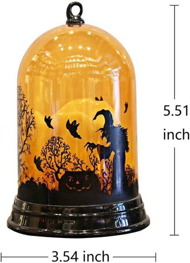 Fjronline sorci/ère citrouille Chat Bougie Motif Halloween lumi/ère aliment/ée par batterie pour barre de KTV Centre Commercial Bureau D/écoration Props Table dHalloween lampe de nuit