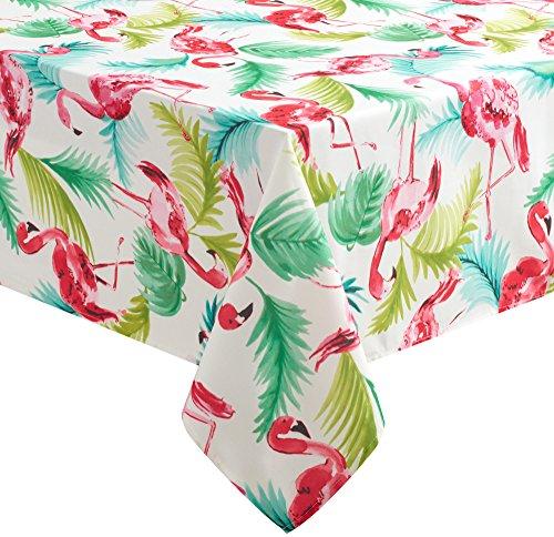 Benson Mills Flamingo Tablecloth 70'' Round Multi