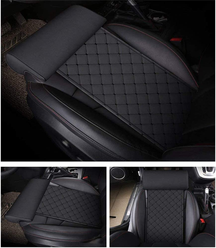 GFYWZZ Car Extended Seat Cushion,Leg Rest Extended Leather Cushion with Comfort Leg Support Pillow for Long-Distance Driving
