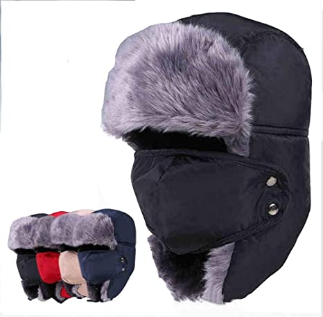 2814ecd46db9d7 Image Unavailable. Image not available for. Color: Holyhigh Men & Women  Unisex Trapper Trooper Aviator Ski Hat Earflap Warm Winter ...