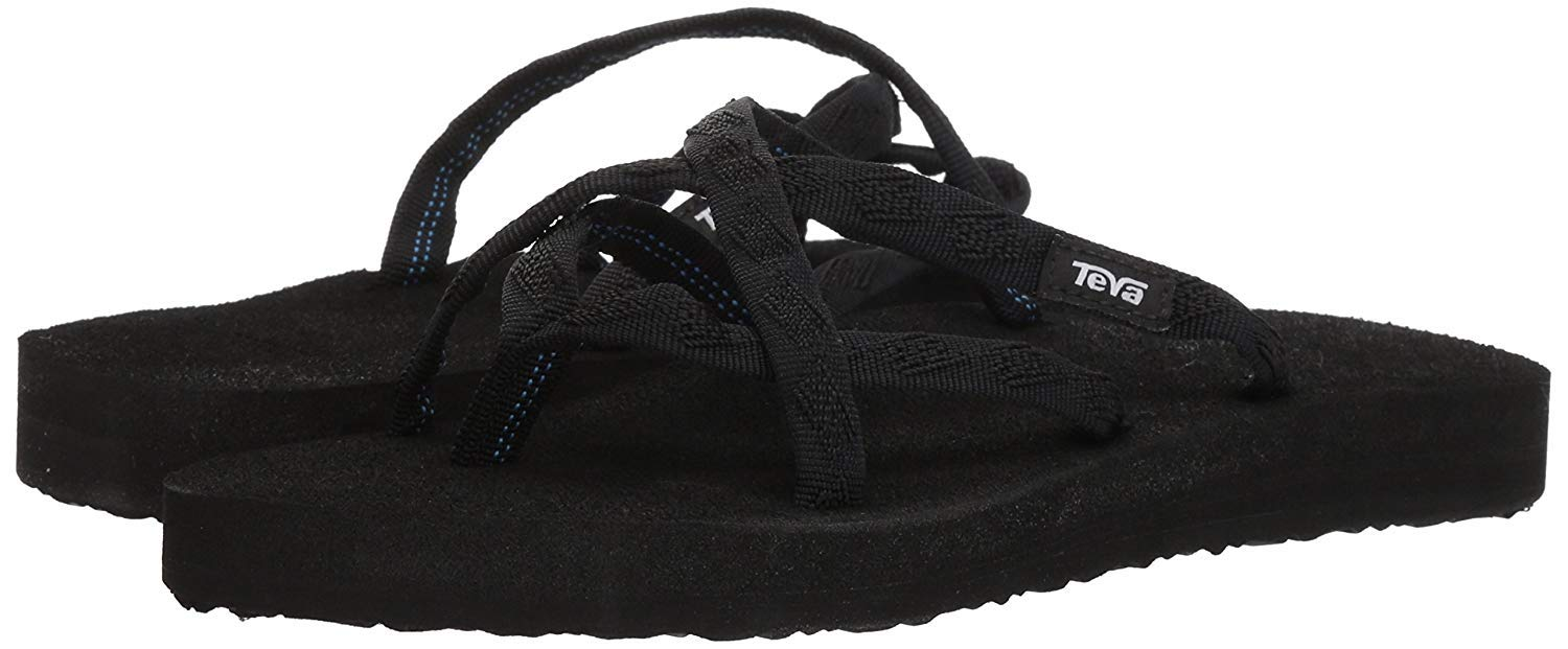Teva Women's Olowahu Flip-Flop Mix B Black ON Black Size 10