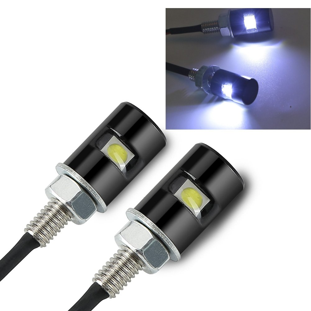 Rupse 2 White Led Motorcycle Car License Plate Screw Light Source Assembly For Tail On Wiring Blot Automotive