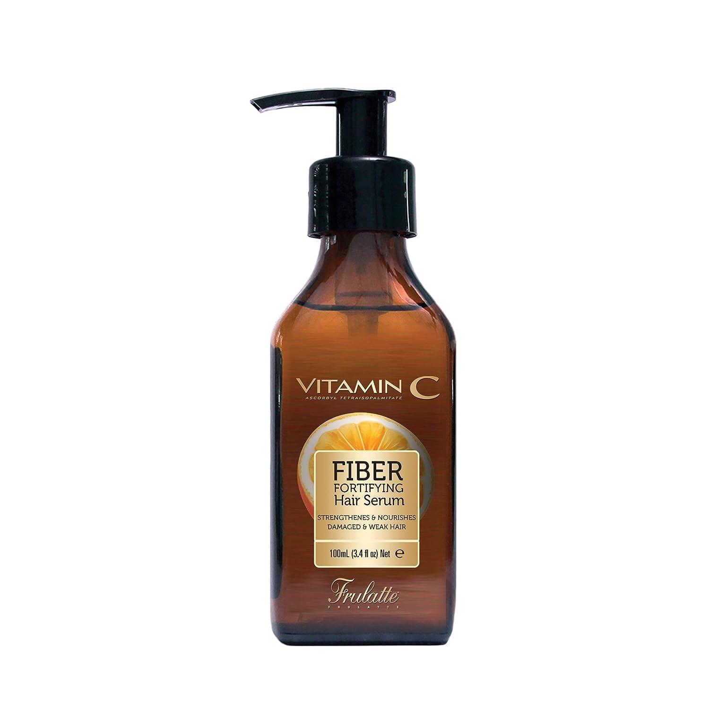 Frulatte Fiber Fortifying Vitamin C Hair Serum for Damaged and Weak Hair 3.4 fl. Oz.