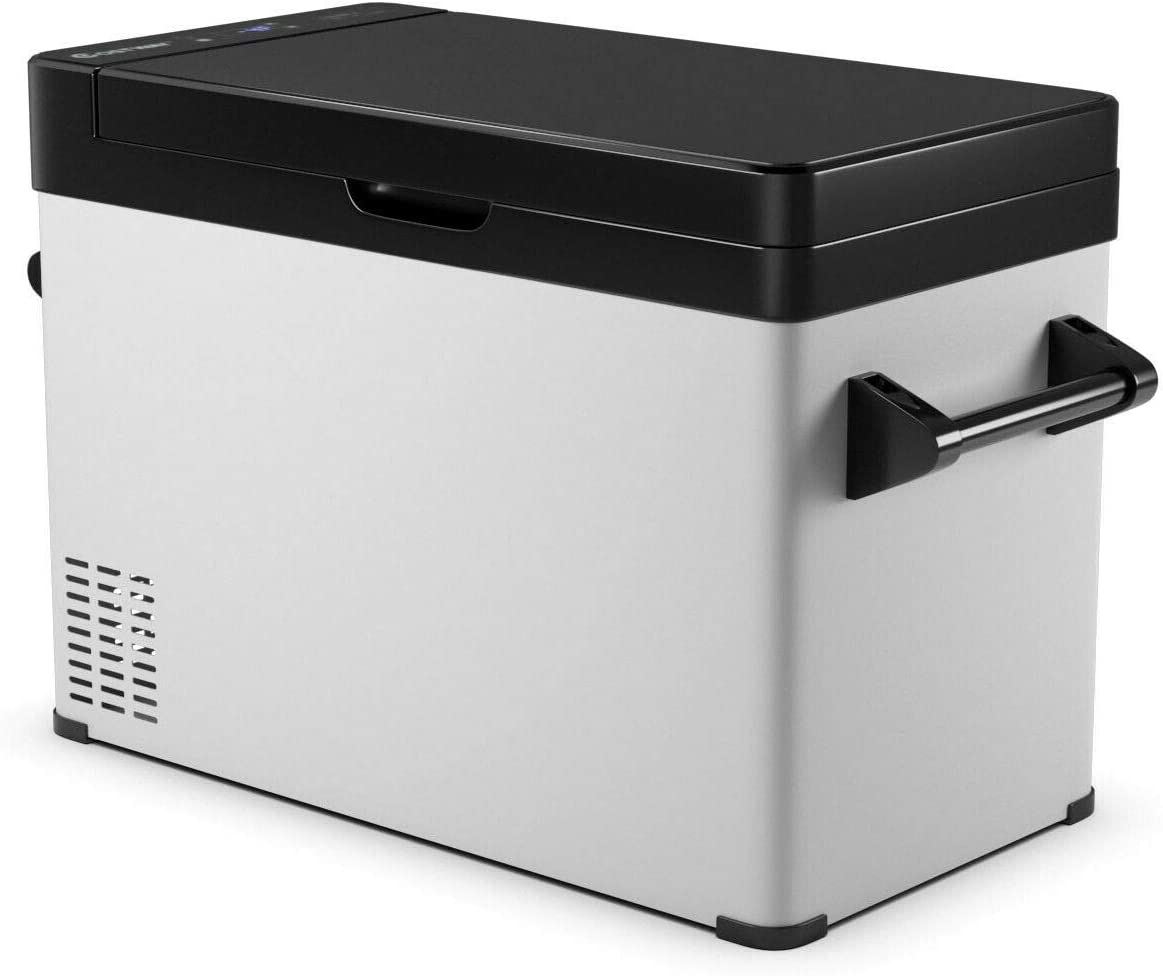 Freezer Dual-Use 30 L Compressor Freezer -13/°F to 50/°F Electric Powered Cooler Mini Fridge Outdoor and Home Use Compact Vehicle Refrigerator for Car COSTWAY Portable Refrigerator 32 Quart