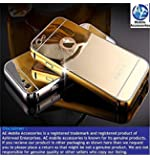 AE (TM) Luxury Metal Bumper + Acrylic Mirror Back Cover Case For APPLE IPHONE 5/5S GOLD PLATED