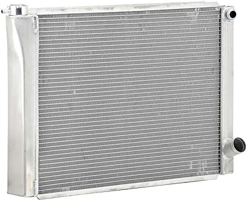 Be Cool 35031 20AN Inlet Circle Track Dual Pass Radiator Dual 1 Core