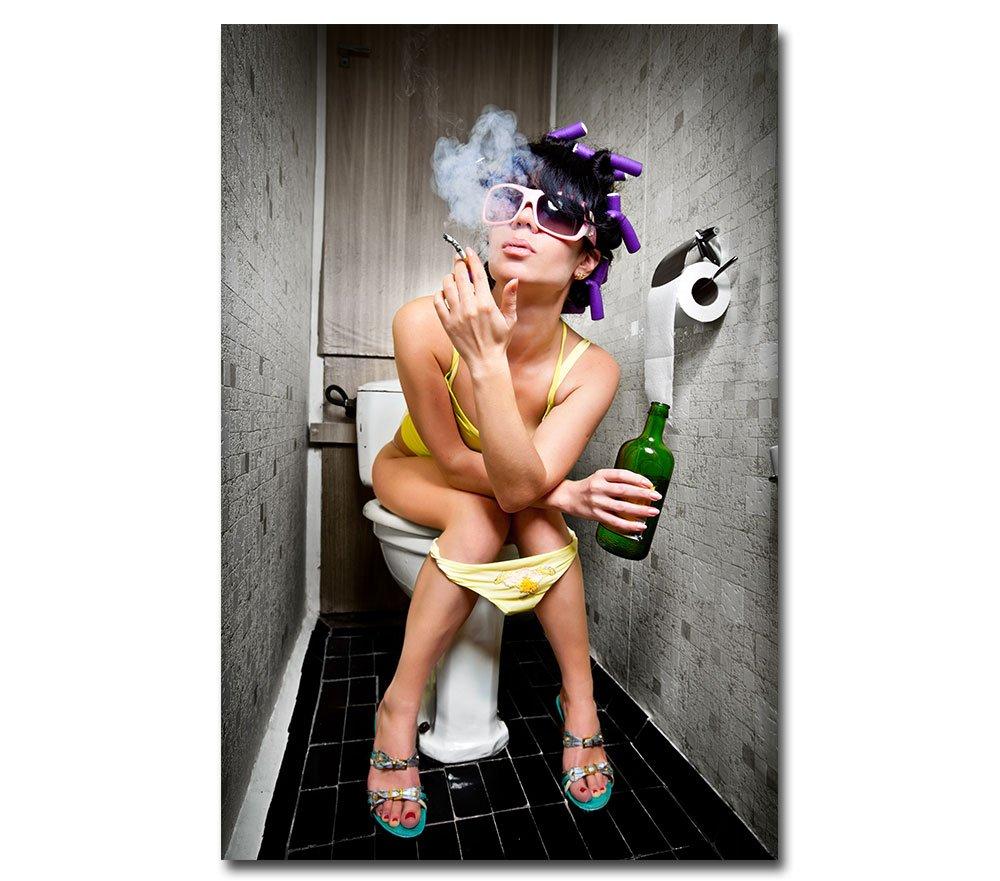 Posterdeluxe Leinwand Rockabilly Rockabilly Rockabilly Pin Up - Freaky Girl - Sexy Pinup Erotik Akt Toilette Bar Club Kneipe 3aed33