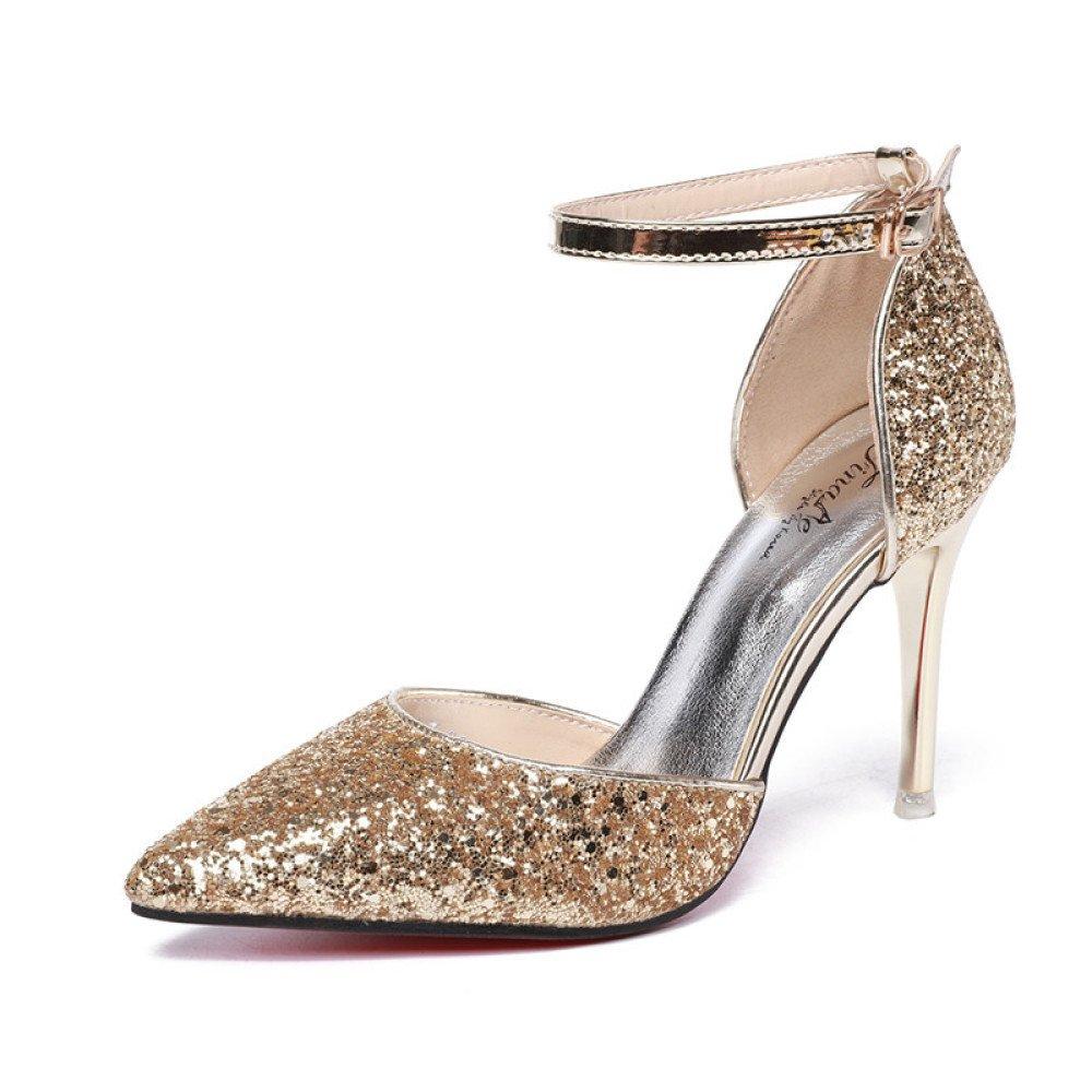 Frauen High Heels Heels Heels Pumps Hochzeit Prom Party Brautschuhe Damen Stilettos Knöchelriemen Schnalle Sandalen a1f389