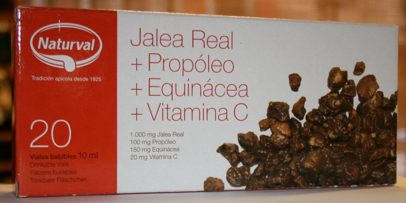 Jalea Real(1000mg)Propoleo(100mg)Equinacea(150mg) Vitamina C(20 mg) 20 Ampollas 10 ml: Amazon.es: Salud y cuidado personal