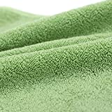 "Zhenxinmei Cotton Add Thickly Bath Towel Plain Colour Body Towel use for Home,Beauty Salon,Luxury Hotel,for Maximum Softness and Absorbency Washcloth,27""x55"" (green)"