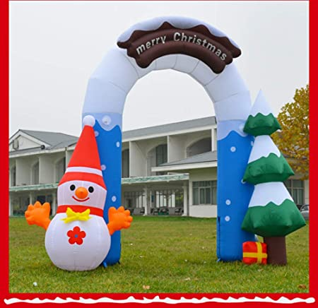christmas tree inflatable arches holiday decorations large inflatable santa claus elk castle christmas decorations hotel shopping