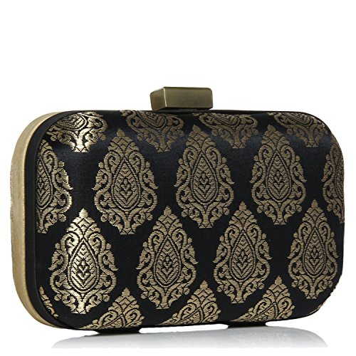 clutches Stylish women for box Multicolored clutch party silk brocade evening 48Y8rRqw