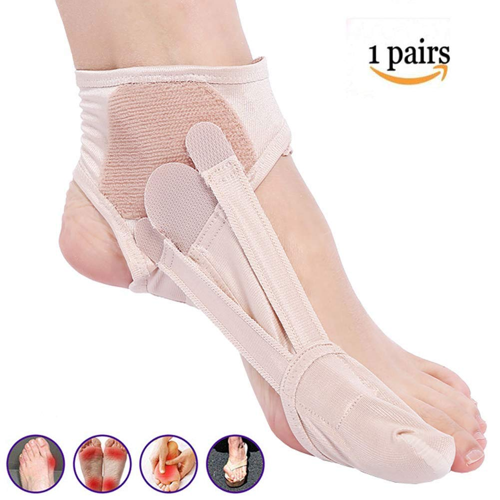 DZWJ Bunion Corrector Toe Straightener, Bunion Splints Adjustable Thumb Valgus Corrector Hallux Valgus Overlapping Pain Relief 1pair by DZWJ