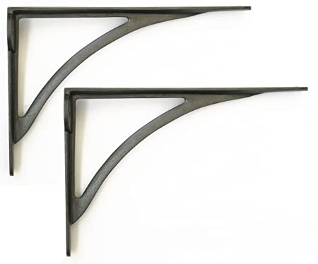 Pair Of Large Cast Iron Victorian Ironbridge Shelf Brackets 10quot