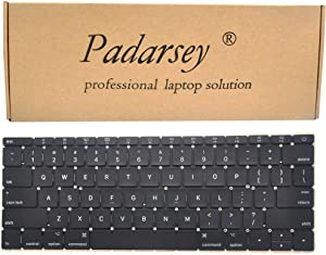 Padarsey Replacement US Layout Keyboard Compatible for MacBook 12