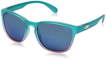 Suncloud Gafas de sol polarizadas, mujer, Aqua Pink Fade Frame/Blue Mirror Polycarbonate