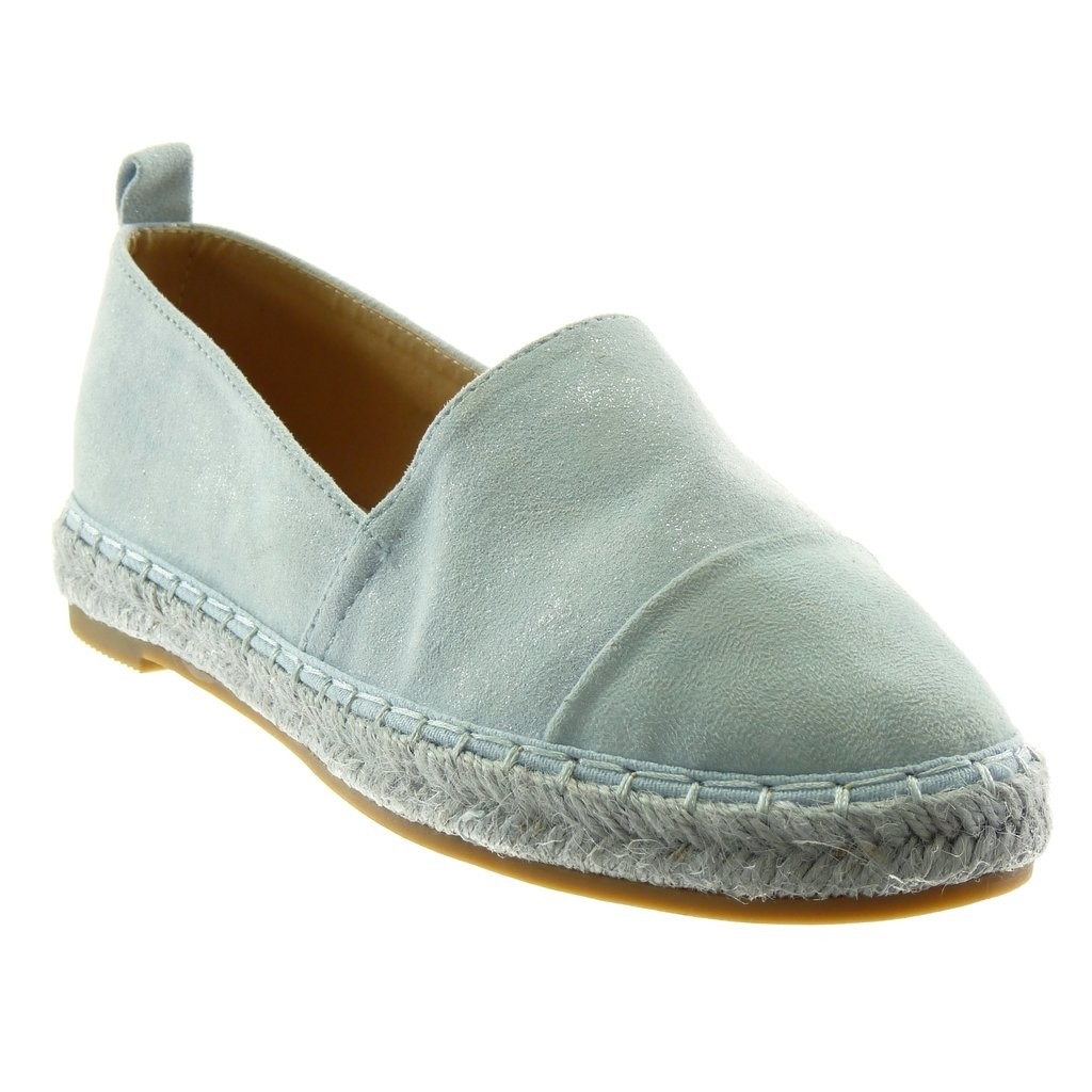 Angkorly Chaussure Mode 10974 Espadrille Slip-on Angkorly Femme Corde Tréssé Talon cm Bloc 2 cm Bleu 0684516 - latesttechnology.space