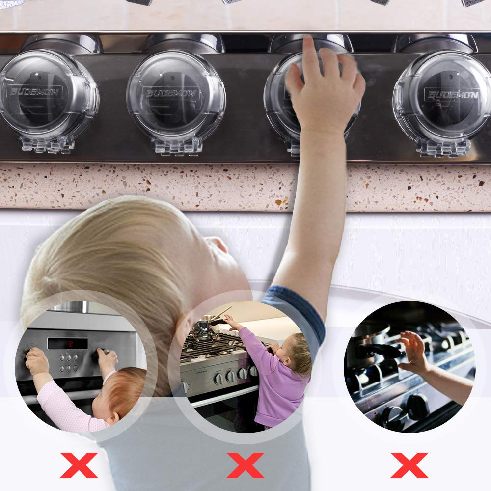 for EUDEMON Safety Children Kitchen Stove Gas Knob Covers Replacement Spare 3M VHB Tapes Latest Powerful Design to Protect Your Kids /& Toddlers Extra Value Six Pack x6
