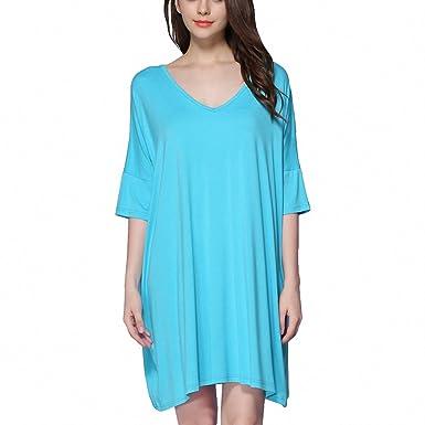 9100528328e4 Women Lncrease Size Cotton Nightgowns Sleepshirts Summer Home Dress ...