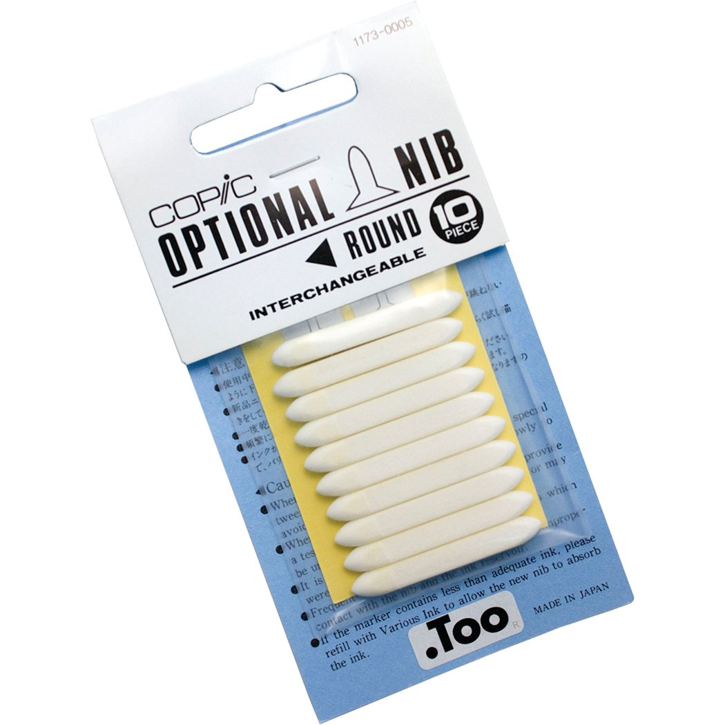 Copic Markers Round Nib, 10-pack