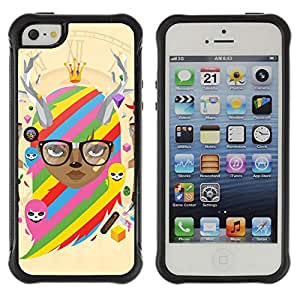 Hybrid Anti-Shock Defend Case for Apple iPhone 5 5S / Cool & Cute Fantasy