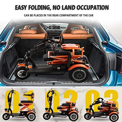 Amazon.com: SZeao - Silla de ruedas eléctrica plegable para ...