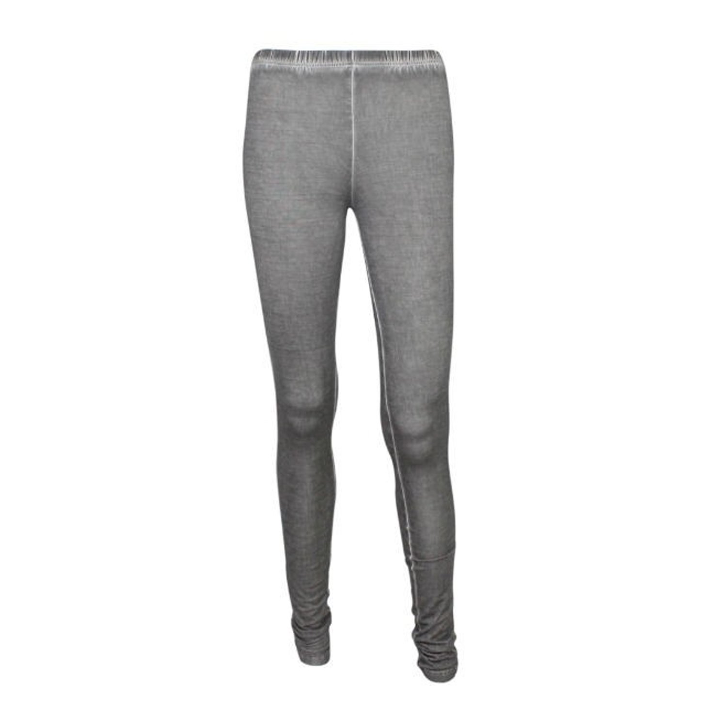 Fine Collection Womens Silk Blend Legging Anthracite Jet Extra Small