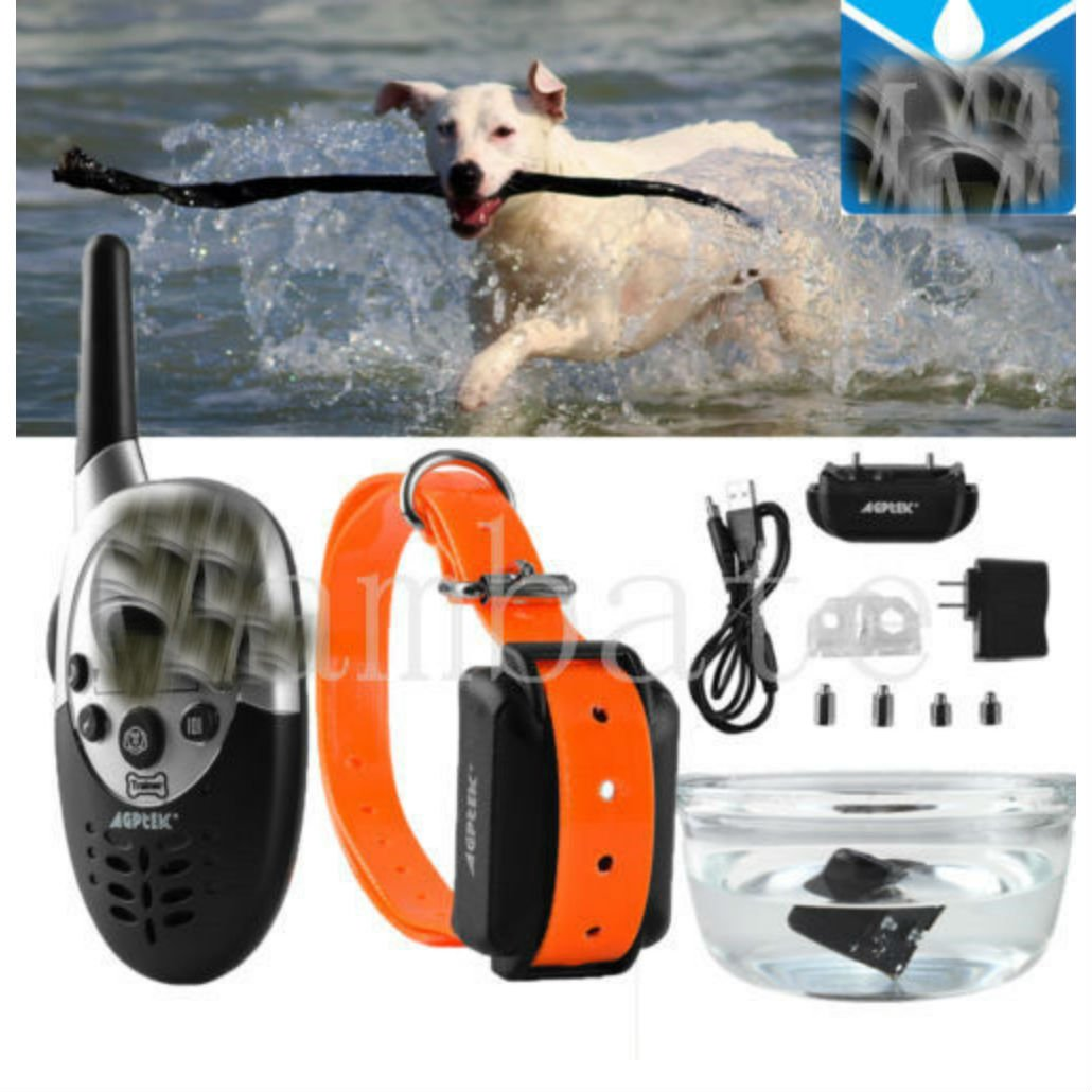 1000 Yard Waterproof Rechargeable LCD Electric Remote Dog Training Shock Collar