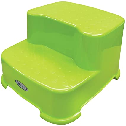 Peachy Graco 2 Step Transitions Step Stool Green Bralicious Painted Fabric Chair Ideas Braliciousco