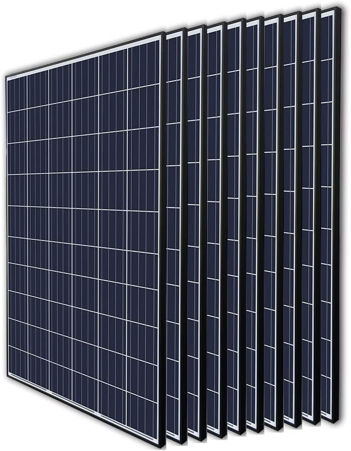 Renogy 10Pcs 270 Watt 24 Volt Solar Panel 2700W for Off-Grid On-Grid Large Solar System, Residential Commercial House Cabin Sheds Rooftop, Multi-Panel Solar Arrays