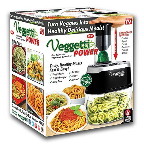 Veggetti Power 4-in-1 Vegetable Spiralizer in Black - As Seen On TV by Velocity (Image #3)