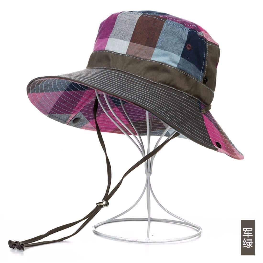 RUIFENGSTORE Sun Hat with Strap, Wide Brim Print Cap for Fishing Travel (Color : A, Size : M) by RUIFENGSTORE