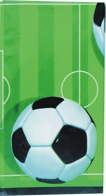 Suministros de Paquete de Fiesta de Fútbol Decoraciones de Fútbol de vajilla de Cumpleaños de Niños para 16 Invitados - Globos de Placas de Fiesta de ...