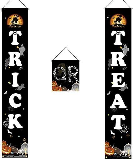 Amazon.com: Cartel de Halloween para colgar en la puerta ...