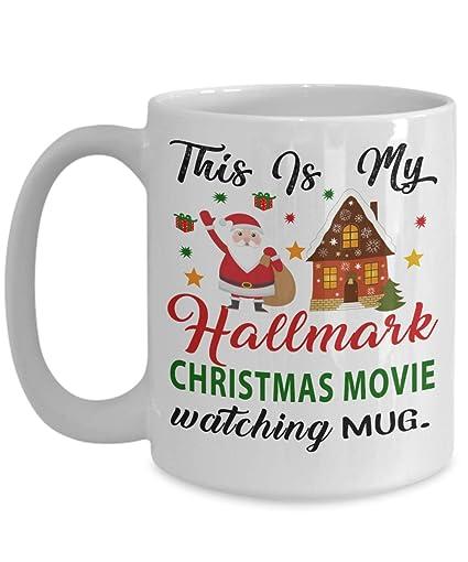 af13cc6f708 Hallmark Christmas Movie Watching Coffee Mug - Dirty Santa Gift, office,  Coworker Tea Cup